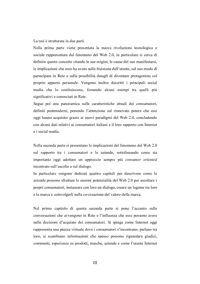Anteprima della tesi: La comunicazione del brand nell'era del Web 2.0, Pagina 3