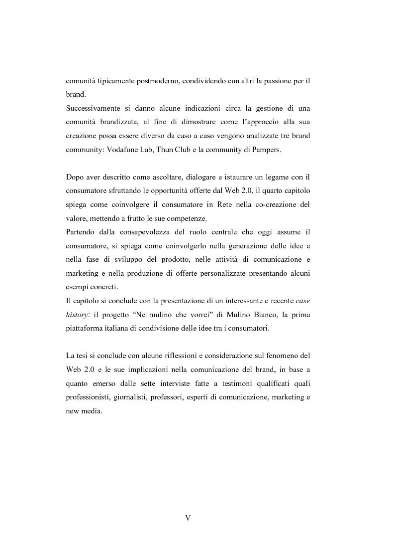Anteprima della tesi: La comunicazione del brand nell'era del Web 2.0, Pagina 5