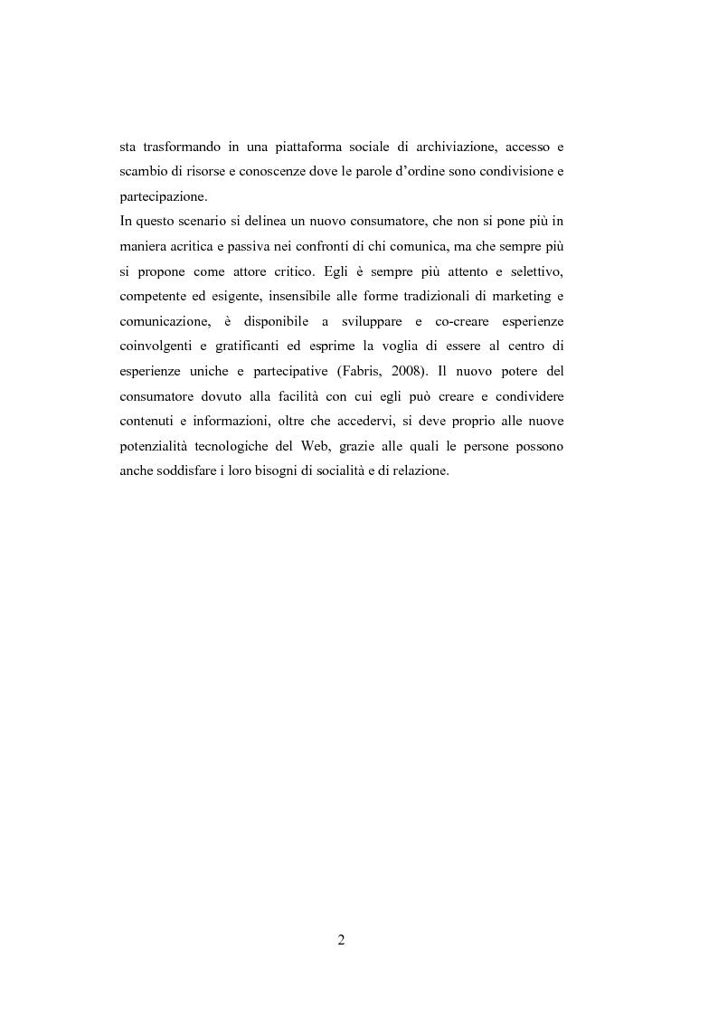 Anteprima della tesi: La comunicazione del brand nell'era del Web 2.0, Pagina 7