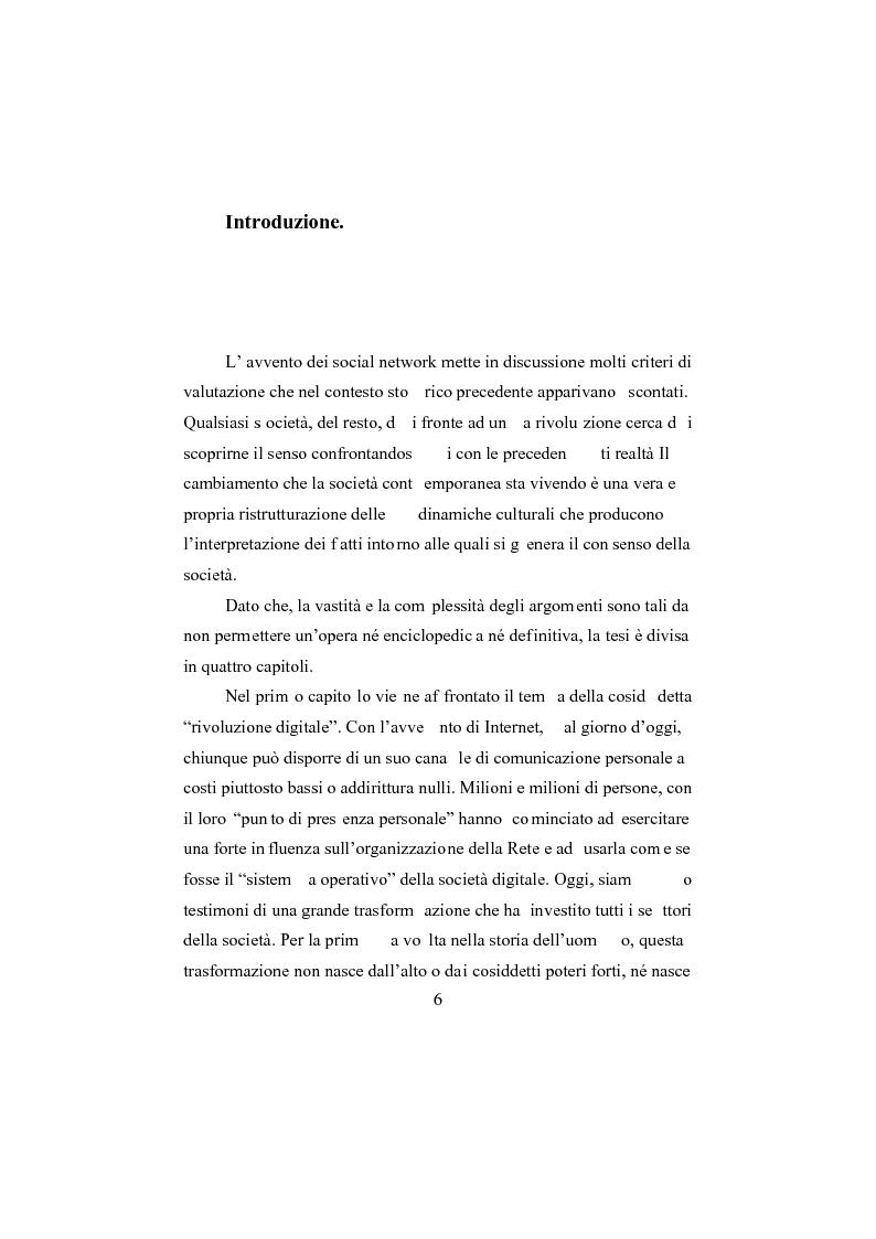 Anteprima della tesi: I social network, Pagina 1