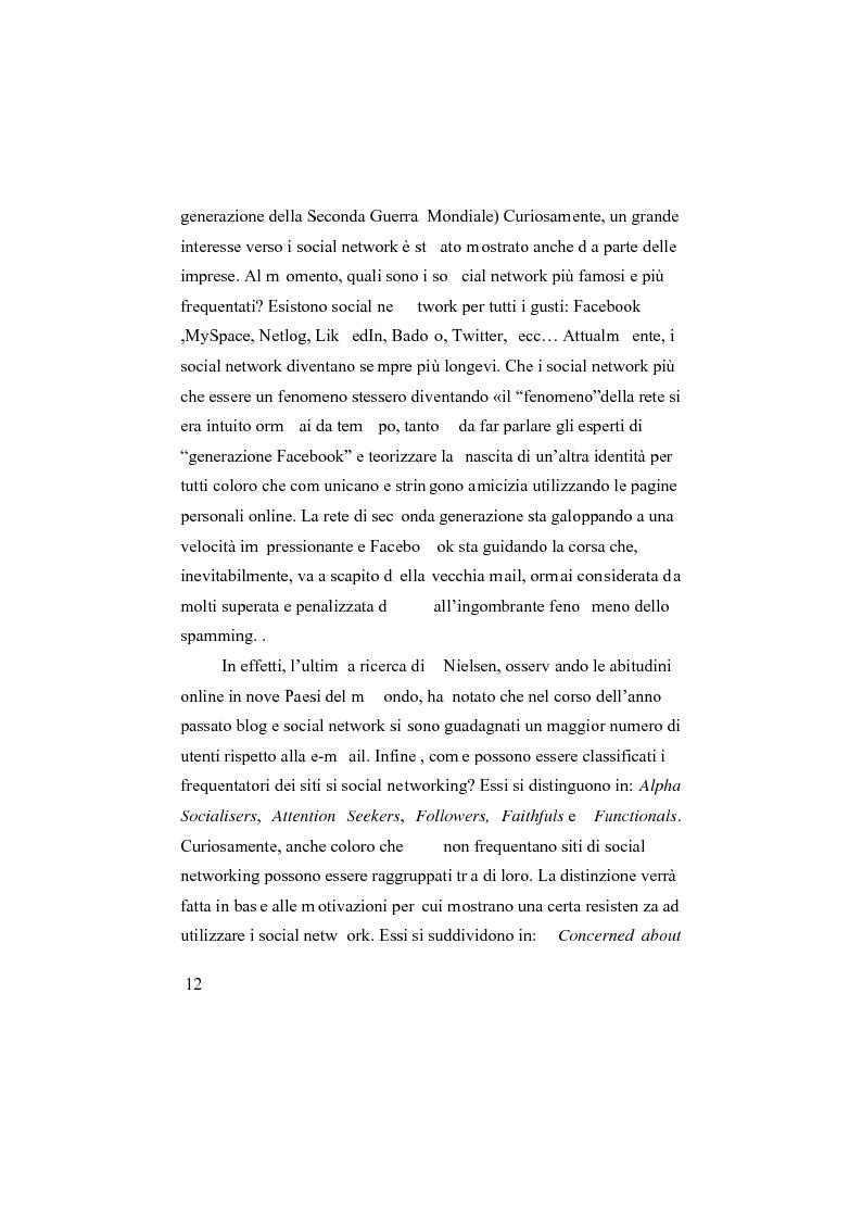Anteprima della tesi: I social network, Pagina 7