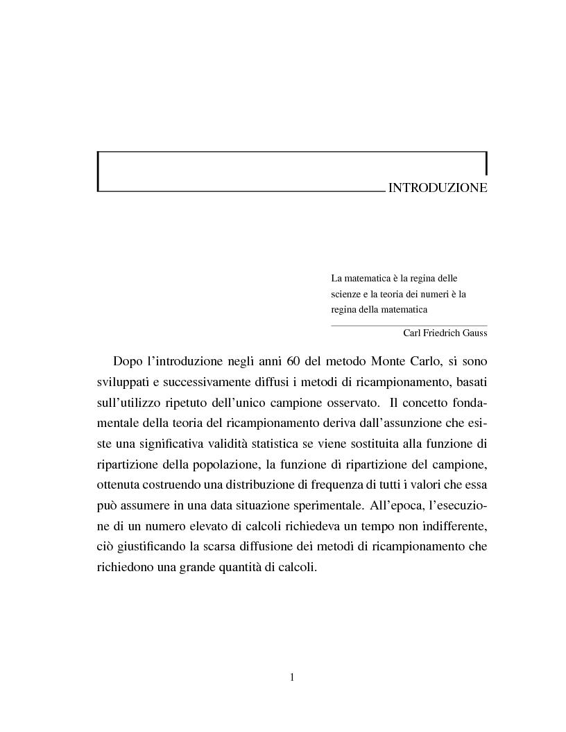 Anteprima della tesi: I metodi Jackknife e Bootstrap: teorie e applicazioni, Pagina 3