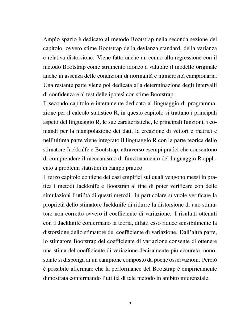 Anteprima della tesi: I metodi Jackknife e Bootstrap: teorie e applicazioni, Pagina 5
