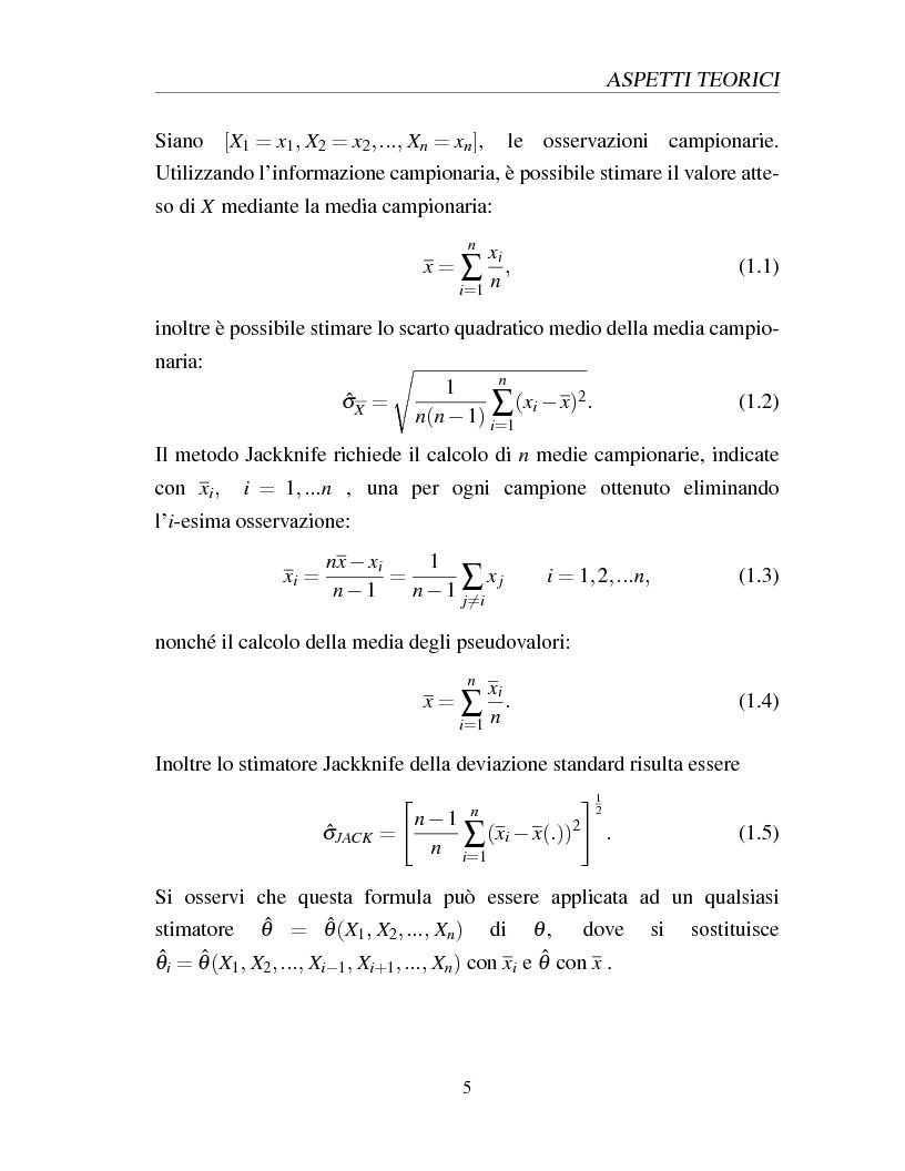 Anteprima della tesi: I metodi Jackknife e Bootstrap: teorie e applicazioni, Pagina 7