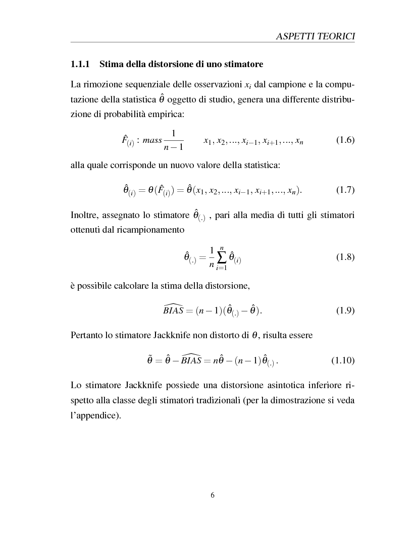 Anteprima della tesi: I metodi Jackknife e Bootstrap: teorie e applicazioni, Pagina 8