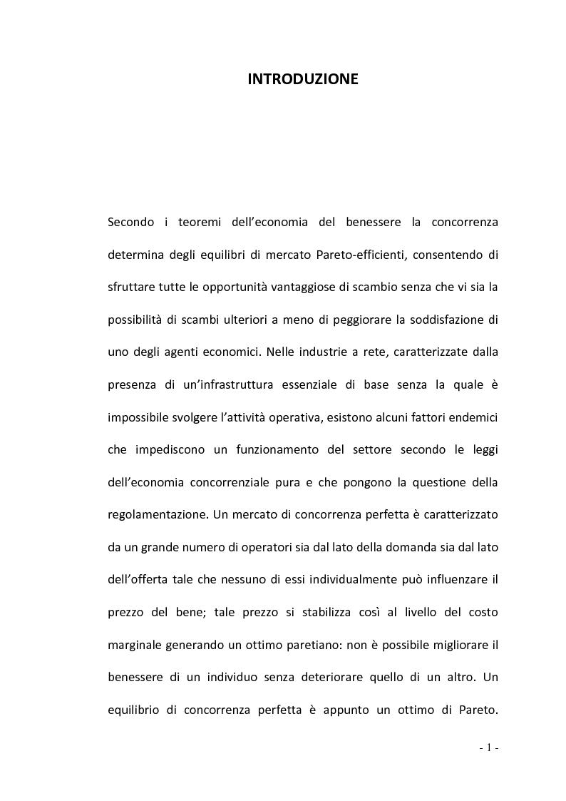 Anteprima della tesi: La regolamentazione del settore ferroviario: dal monopolio naturale alla concorrenza, Pagina 1