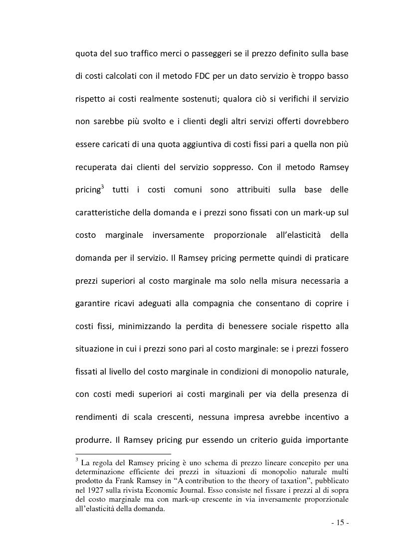 Anteprima della tesi: La regolamentazione del settore ferroviario: dal monopolio naturale alla concorrenza, Pagina 15
