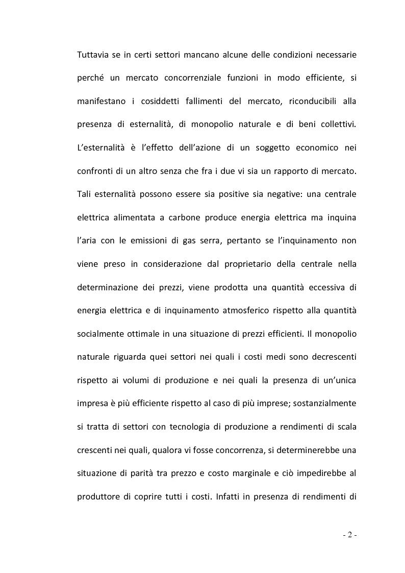 Anteprima della tesi: La regolamentazione del settore ferroviario: dal monopolio naturale alla concorrenza, Pagina 2