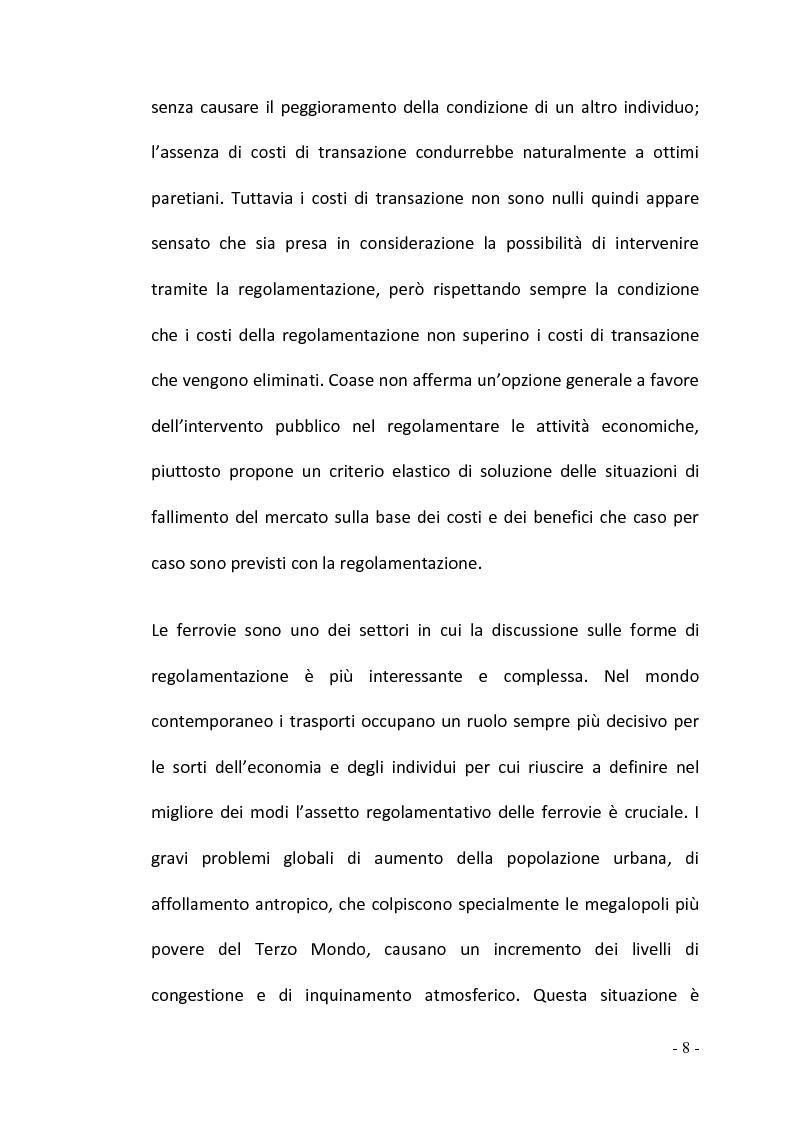 Anteprima della tesi: La regolamentazione del settore ferroviario: dal monopolio naturale alla concorrenza, Pagina 8