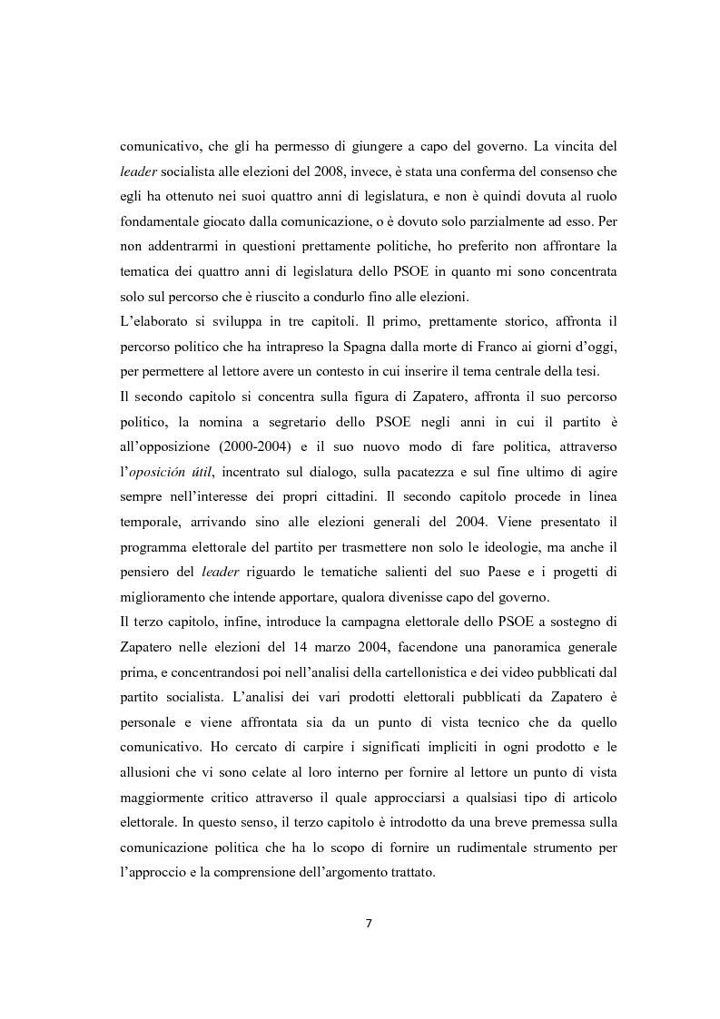 Anteprima della tesi: Jose Luis Rodriguez Zapatero: politica e comunicazione nelle elezioni del 2004, Pagina 2