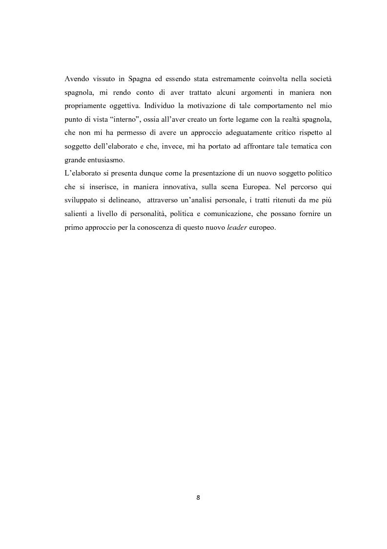 Anteprima della tesi: Jose Luis Rodriguez Zapatero: politica e comunicazione nelle elezioni del 2004, Pagina 3