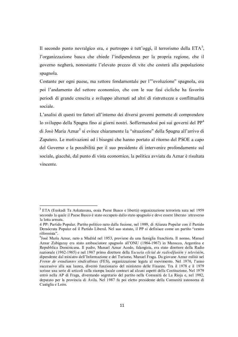 Anteprima della tesi: Jose Luis Rodriguez Zapatero: politica e comunicazione nelle elezioni del 2004, Pagina 6