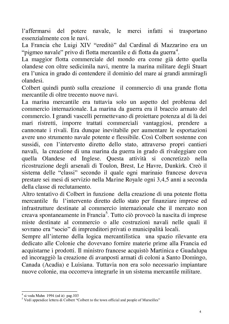 Anteprima della tesi: Economia e Potere navale agli inizi del XVIII secolo, Pagina 4