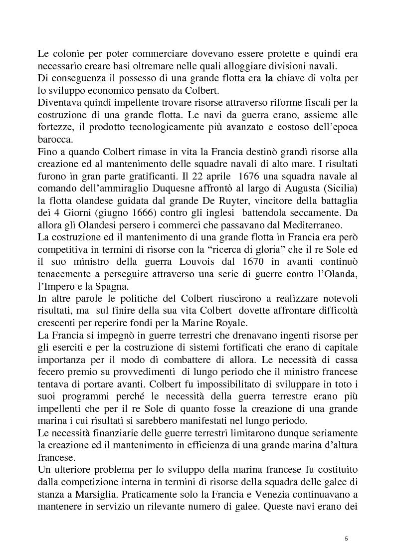 Anteprima della tesi: Economia e Potere navale agli inizi del XVIII secolo, Pagina 5