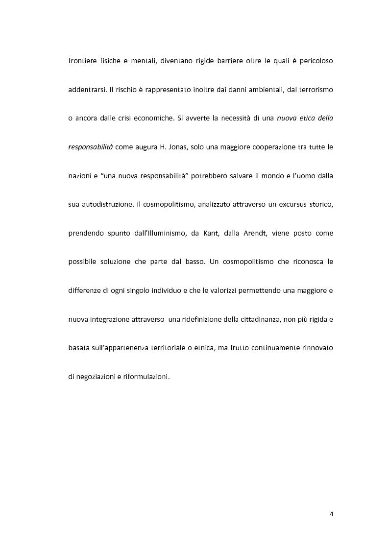 Anteprima della tesi: Globalizzazione, cosmopolitismo, diritti umani, Pagina 4