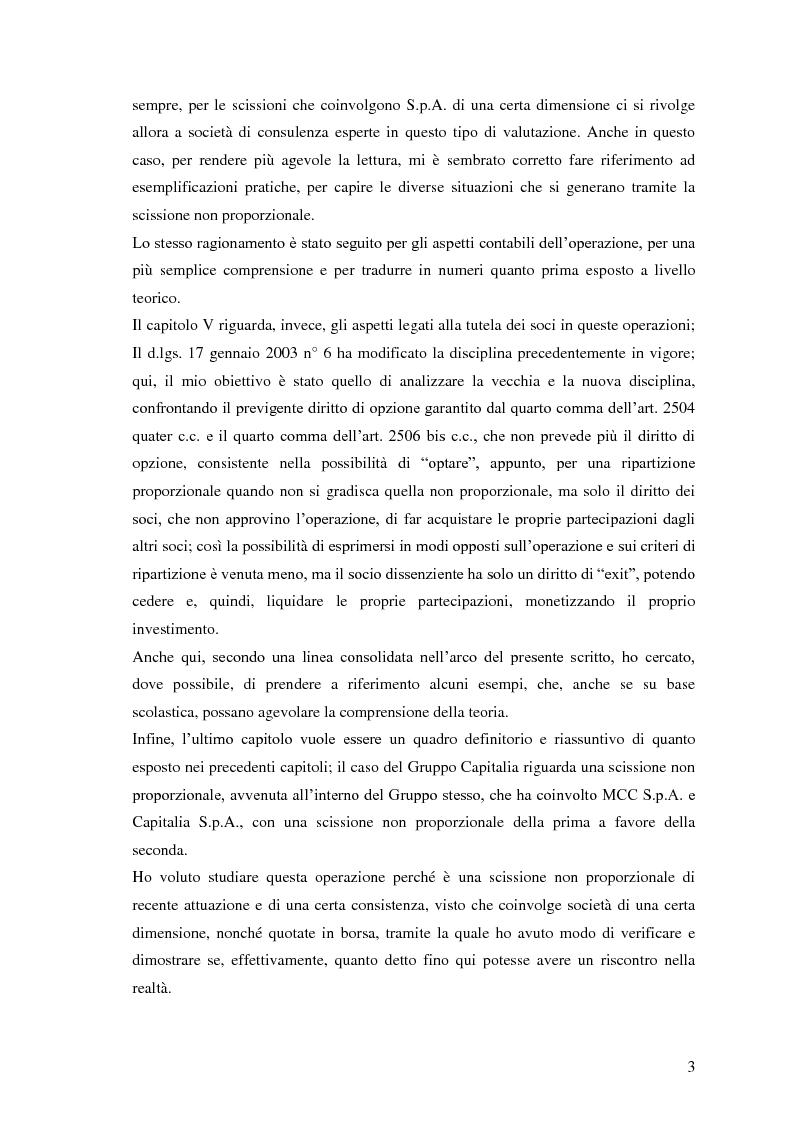 Anteprima della tesi: La scissione non proporzionale di società, Pagina 3