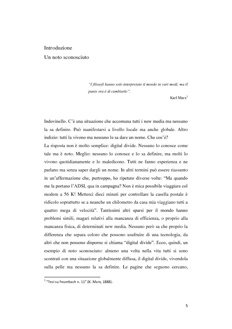 Anteprima della tesi: Digital divide: per un approccio critico, Pagina 1