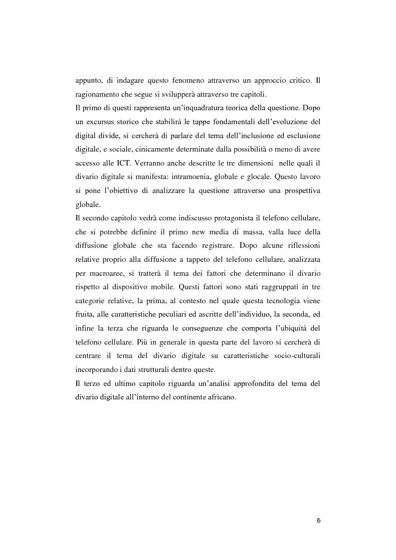 Anteprima della tesi: Digital divide: per un approccio critico, Pagina 2