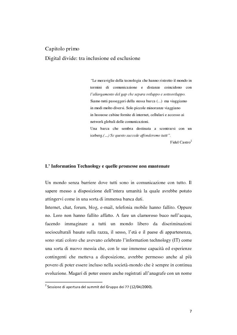 Anteprima della tesi: Digital divide: per un approccio critico, Pagina 3