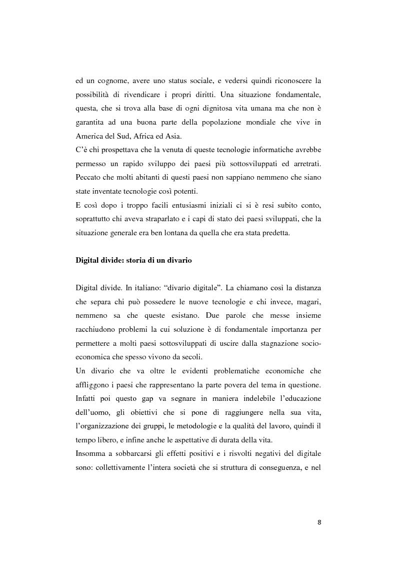 Anteprima della tesi: Digital divide: per un approccio critico, Pagina 4