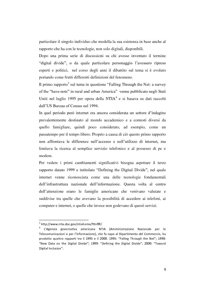 Anteprima della tesi: Digital divide: per un approccio critico, Pagina 5