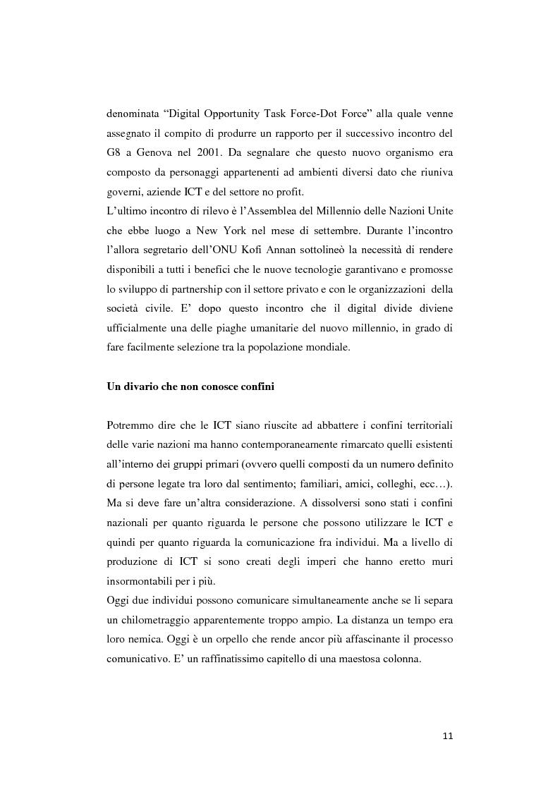 Anteprima della tesi: Digital divide: per un approccio critico, Pagina 7