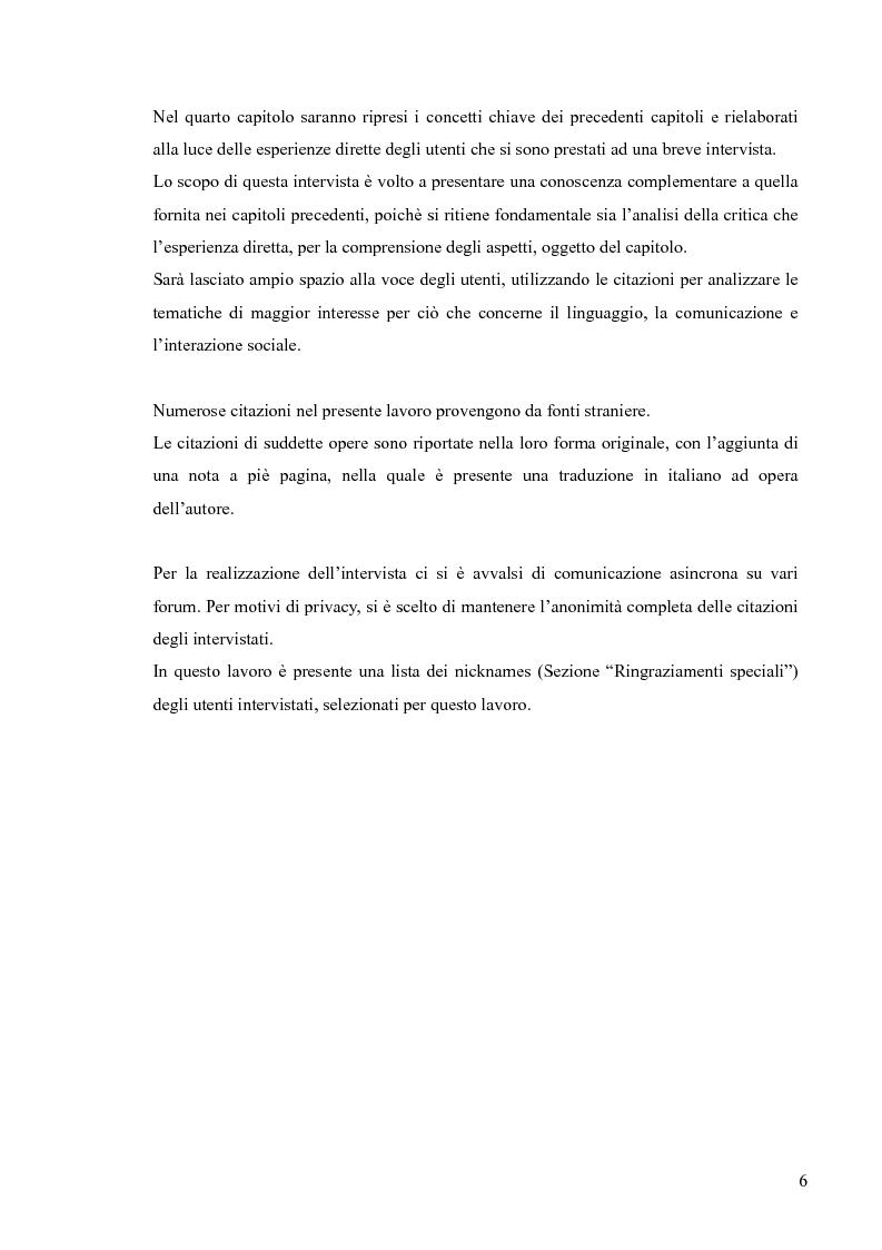 Anteprima della tesi: Lingua, linguaggio ed interazione sociale nel World Wide Web, Pagina 2