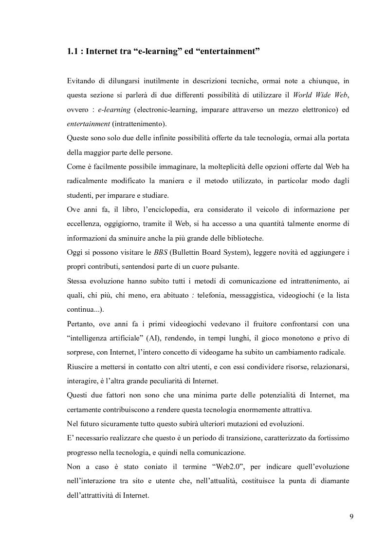 Anteprima della tesi: Lingua, linguaggio ed interazione sociale nel World Wide Web, Pagina 5