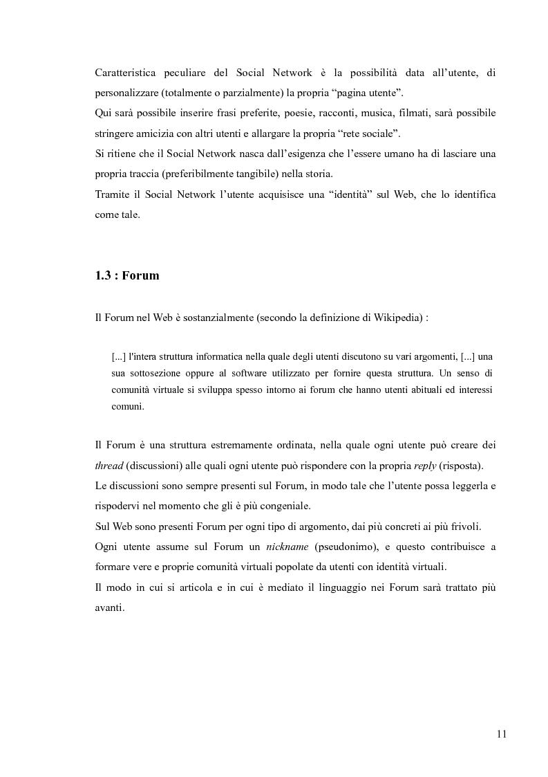 Anteprima della tesi: Lingua, linguaggio ed interazione sociale nel World Wide Web, Pagina 7