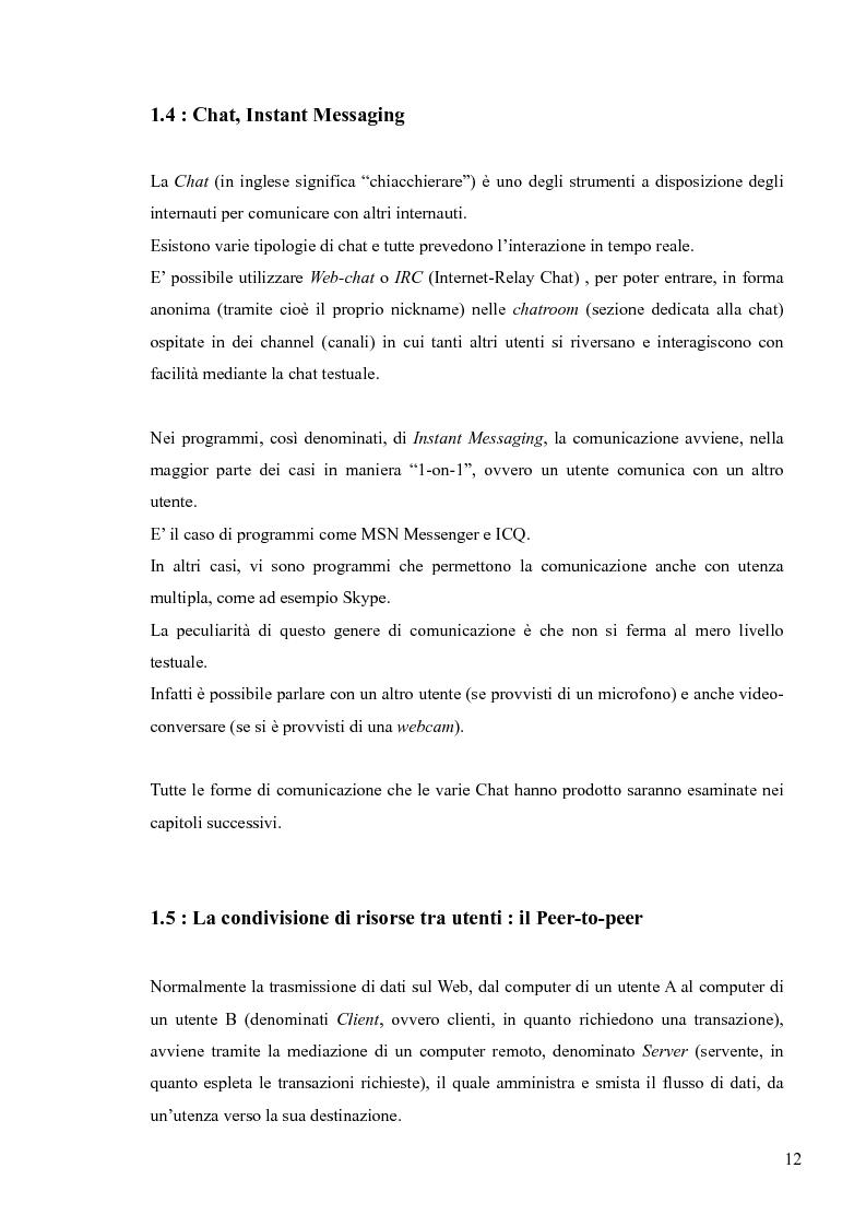 Anteprima della tesi: Lingua, linguaggio ed interazione sociale nel World Wide Web, Pagina 8