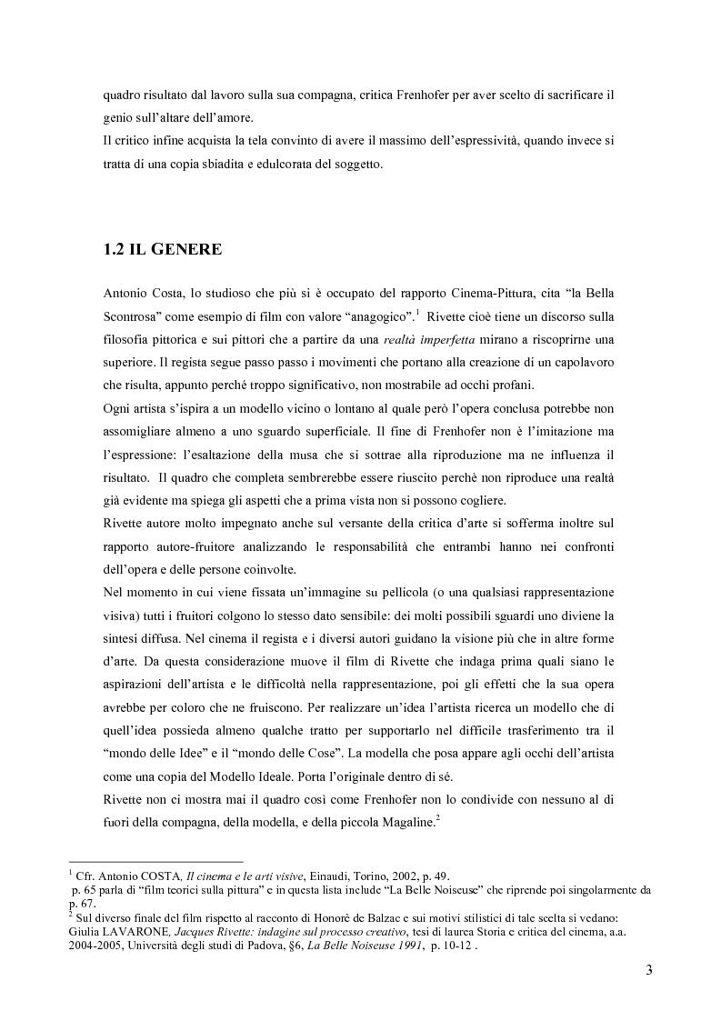 Anteprima della tesi: La Bella Scontrosa - Jacques Rivette tra cinema e pittura, Pagina 2