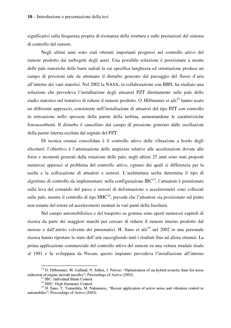 Anteprima della tesi: Il controllo attivo del rumore e delle vibrazioni a bordo delle navi - Stato dell'arte e prospettive future, Pagina 10