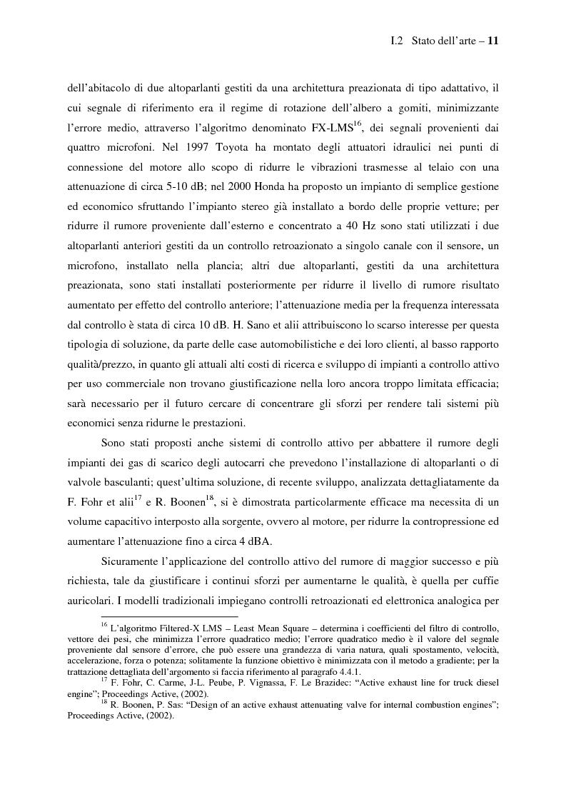 Anteprima della tesi: Il controllo attivo del rumore e delle vibrazioni a bordo delle navi - Stato dell'arte e prospettive future, Pagina 11