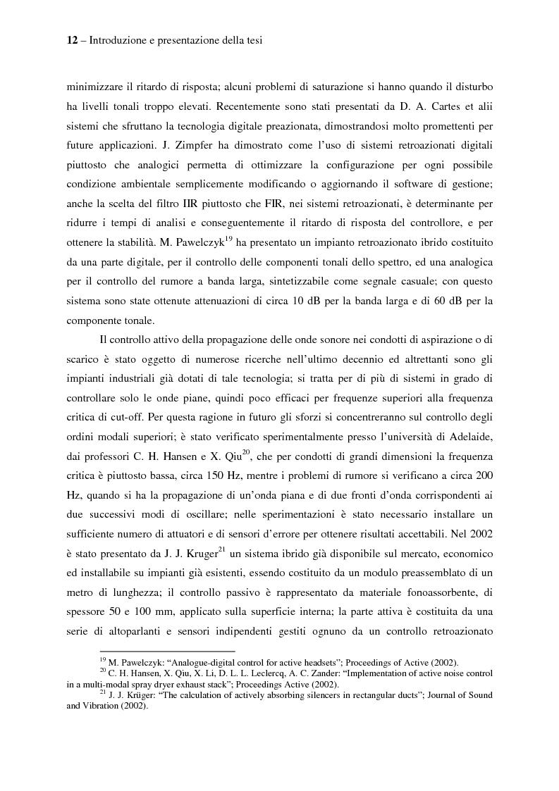 Anteprima della tesi: Il controllo attivo del rumore e delle vibrazioni a bordo delle navi - Stato dell'arte e prospettive future, Pagina 12