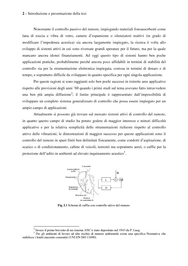 Anteprima della tesi: Il controllo attivo del rumore e delle vibrazioni a bordo delle navi - Stato dell'arte e prospettive future, Pagina 2