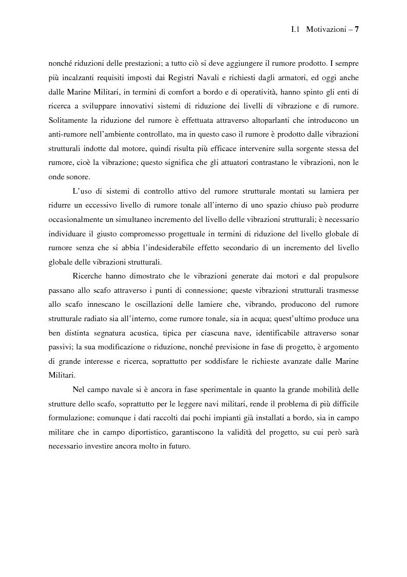 Anteprima della tesi: Il controllo attivo del rumore e delle vibrazioni a bordo delle navi - Stato dell'arte e prospettive future, Pagina 7