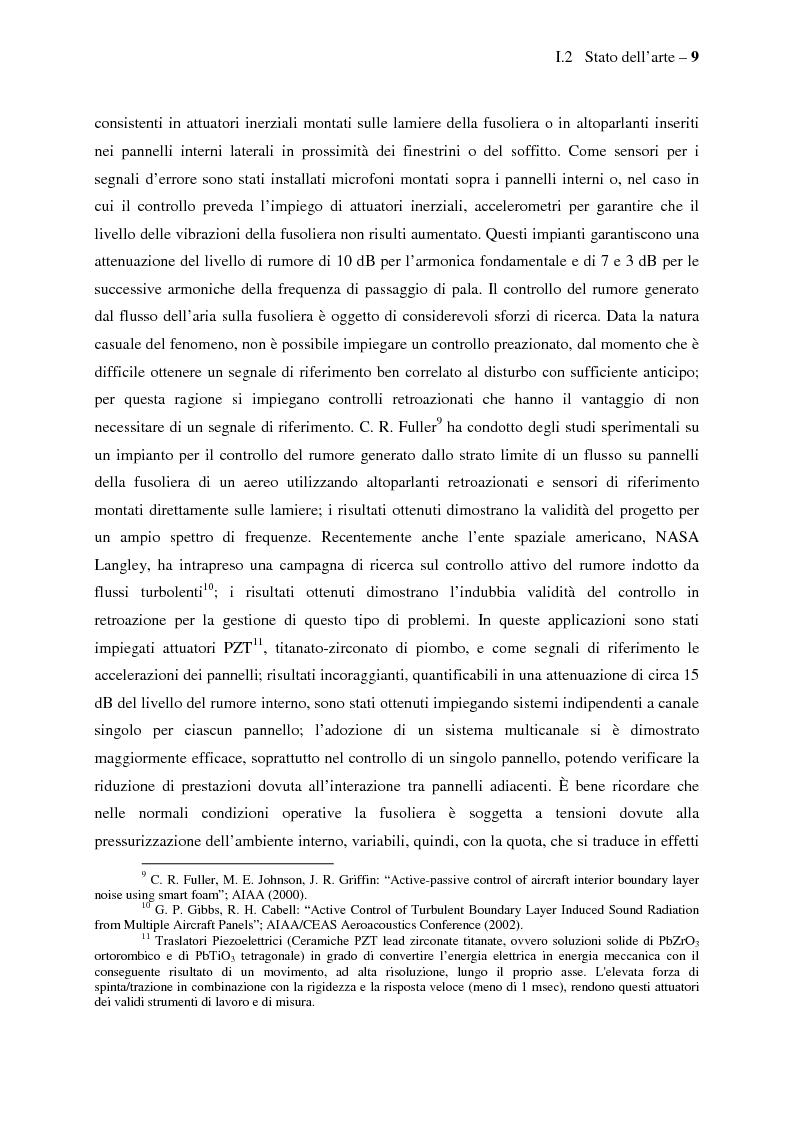 Anteprima della tesi: Il controllo attivo del rumore e delle vibrazioni a bordo delle navi - Stato dell'arte e prospettive future, Pagina 9