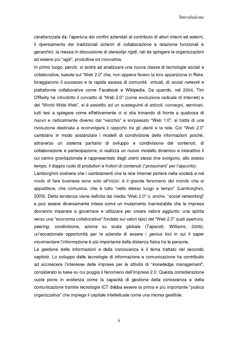 Anteprima della tesi: Impresa 2.0: nuovi paradigmi per organizzazione, innovazione e comunicazione digitale, Pagina 2
