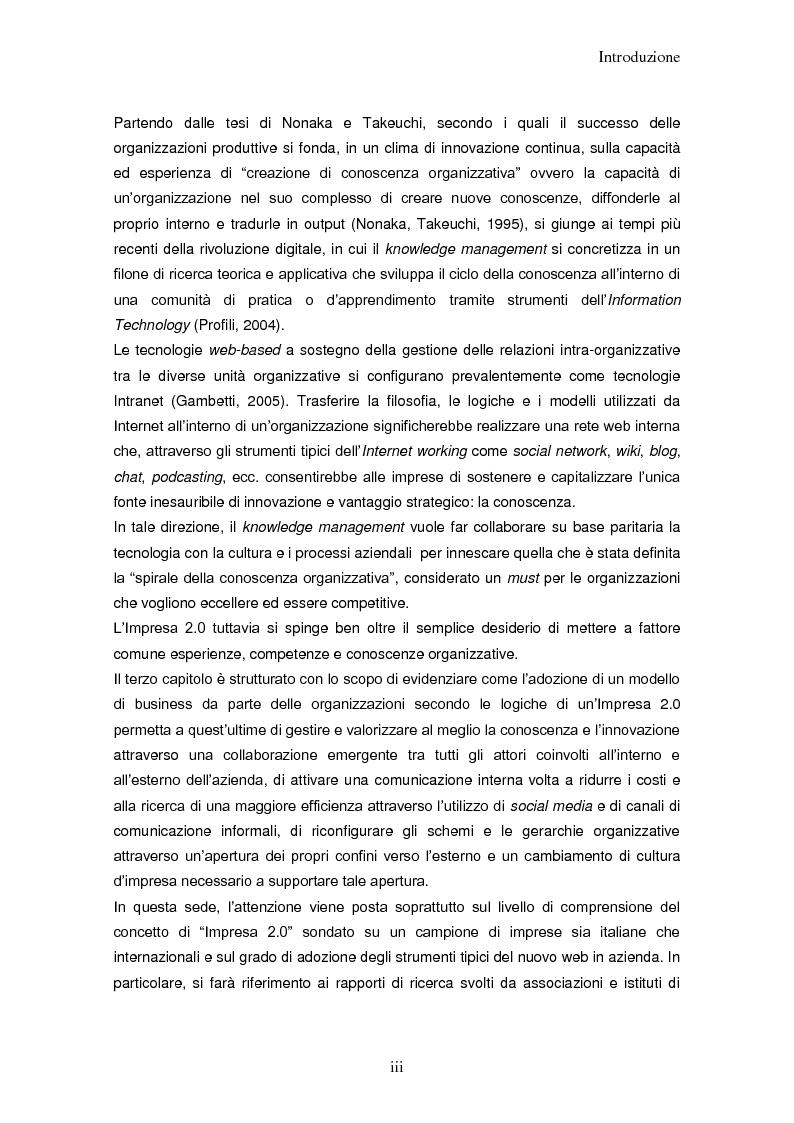 Anteprima della tesi: Impresa 2.0: nuovi paradigmi per organizzazione, innovazione e comunicazione digitale, Pagina 3