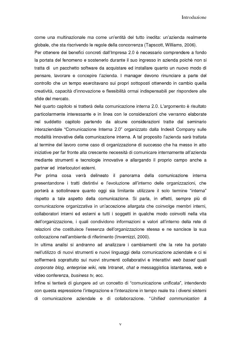 Anteprima della tesi: Impresa 2.0: nuovi paradigmi per organizzazione, innovazione e comunicazione digitale, Pagina 5