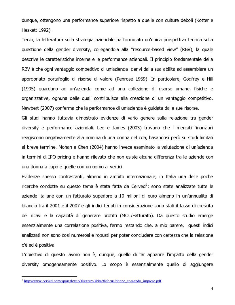 Anteprima della tesi: Gender diversity e performance aziendali, Pagina 2
