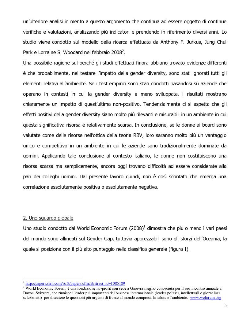 Anteprima della tesi: Gender diversity e performance aziendali, Pagina 3