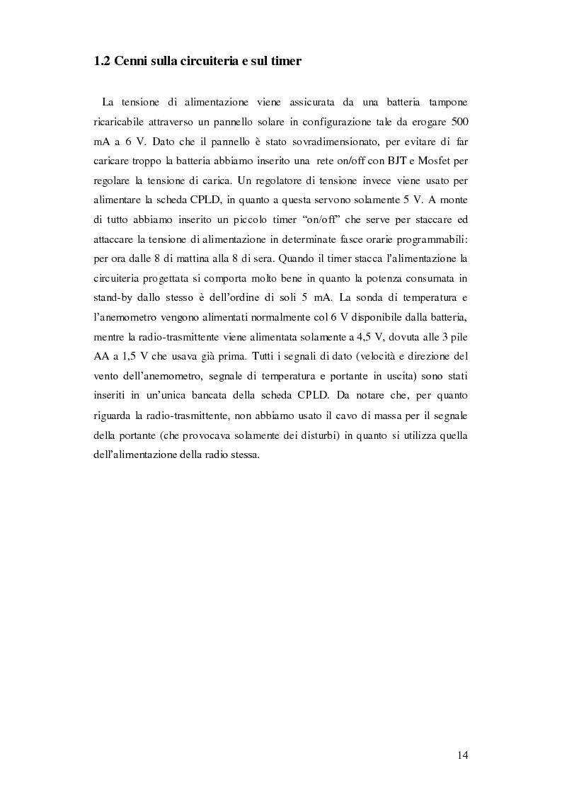 Anteprima della tesi: Progettazione di una stazione anemometrica: aspetti software, Pagina 10