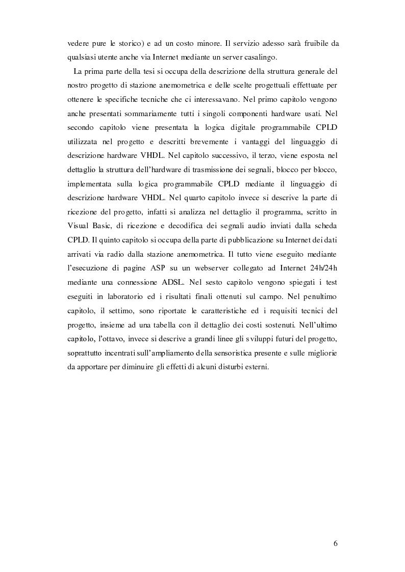 Anteprima della tesi: Progettazione di una stazione anemometrica: aspetti software, Pagina 2