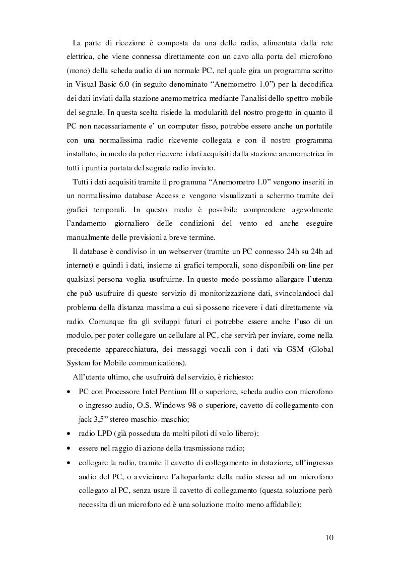 Anteprima della tesi: Progettazione di una stazione anemometrica: aspetti software, Pagina 6