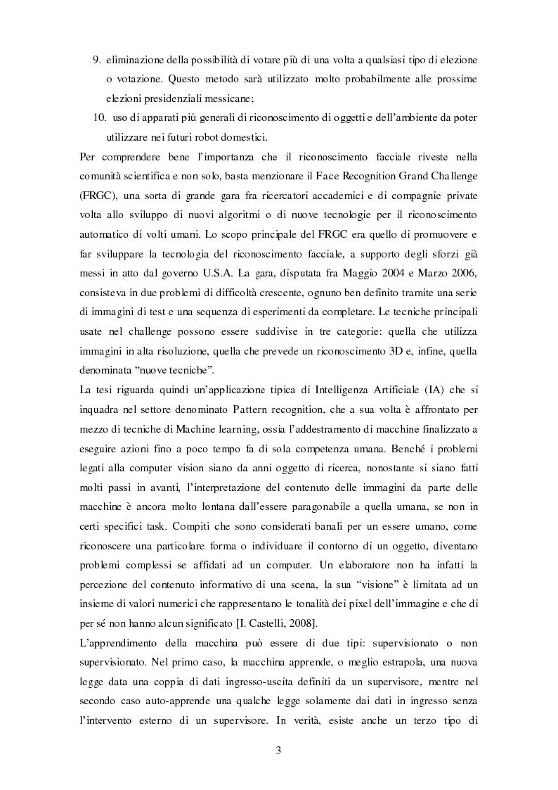 Anteprima della tesi: Analisi comparativa di tecniche di rappresentazione per il riconoscimento automatico di volti, Pagina 3