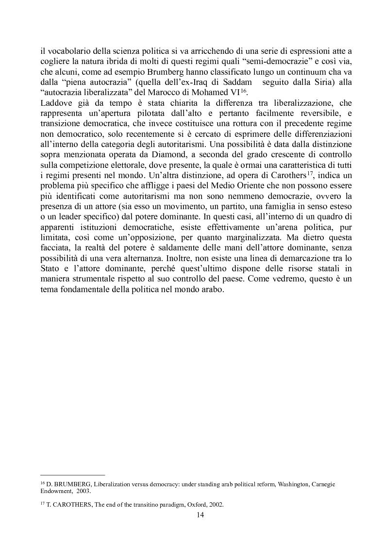 Anteprima della tesi: Prospettive di democratizzazione: i paesi del Maghreb, Pagina 10