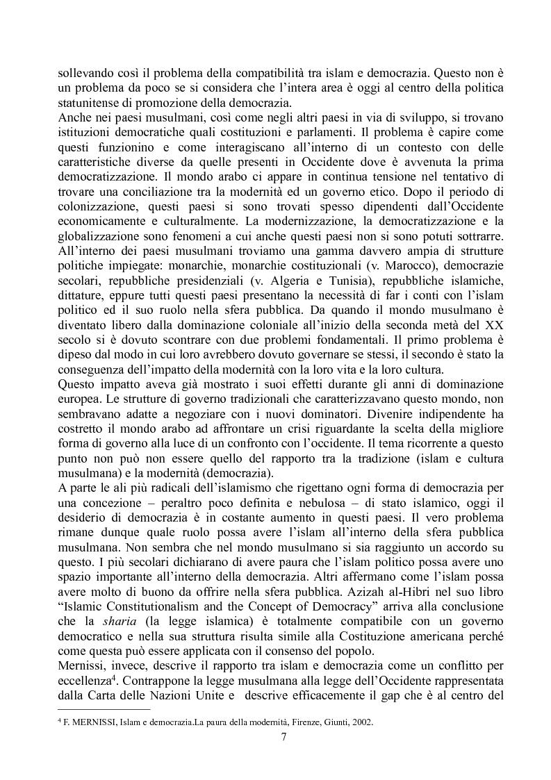 Anteprima della tesi: Prospettive di democratizzazione: i paesi del Maghreb, Pagina 3