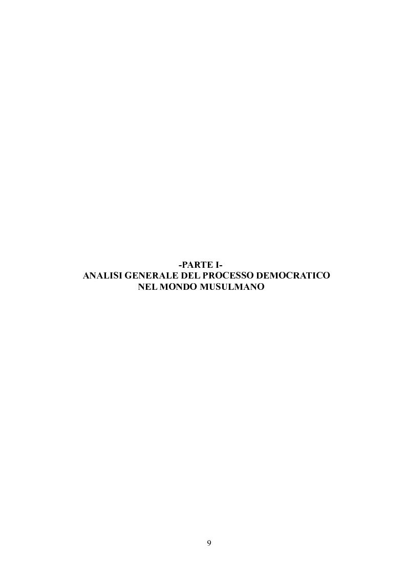 Anteprima della tesi: Prospettive di democratizzazione: i paesi del Maghreb, Pagina 5