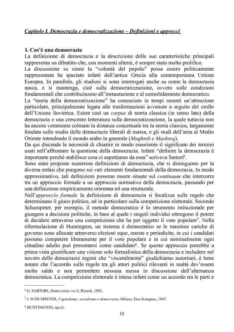 Anteprima della tesi: Prospettive di democratizzazione: i paesi del Maghreb, Pagina 6